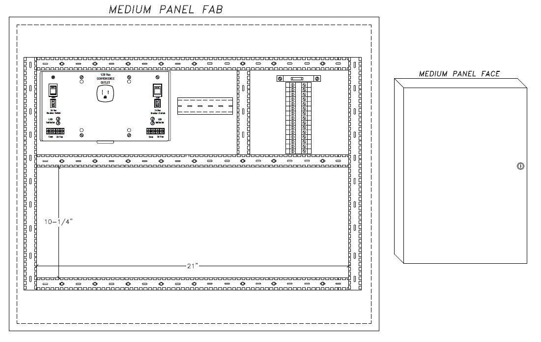 Medium Pre-Fab Panel Drawing