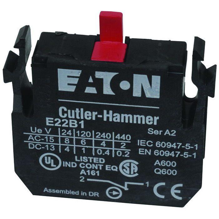 Cutler-Hammer, Eaton E22 Series E22B1 Switch Contact Block