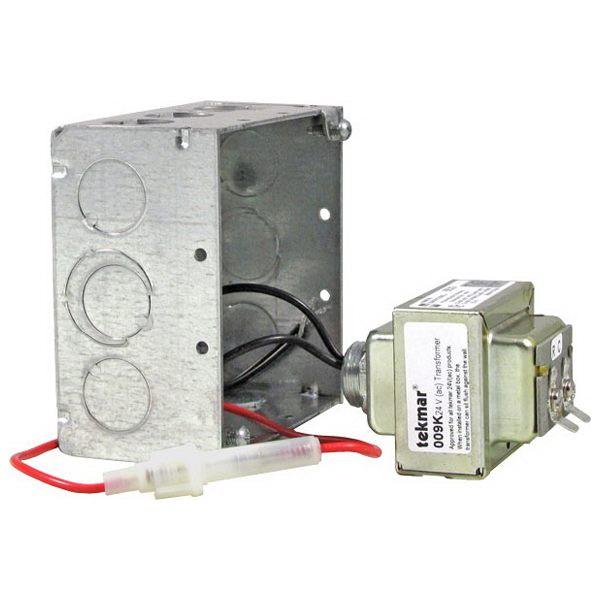 009K - Tekmar Transformer Kit, 24VAC, 40VA, Includes Mounting Box