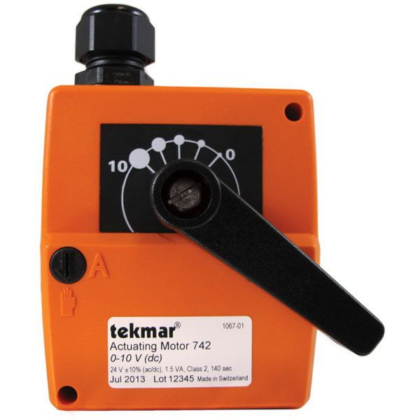 Tekmar Control Systems  742 Actuating Motor