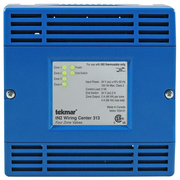 Tekmar Control Systems Performance Series 313 tN2 Wiring Center