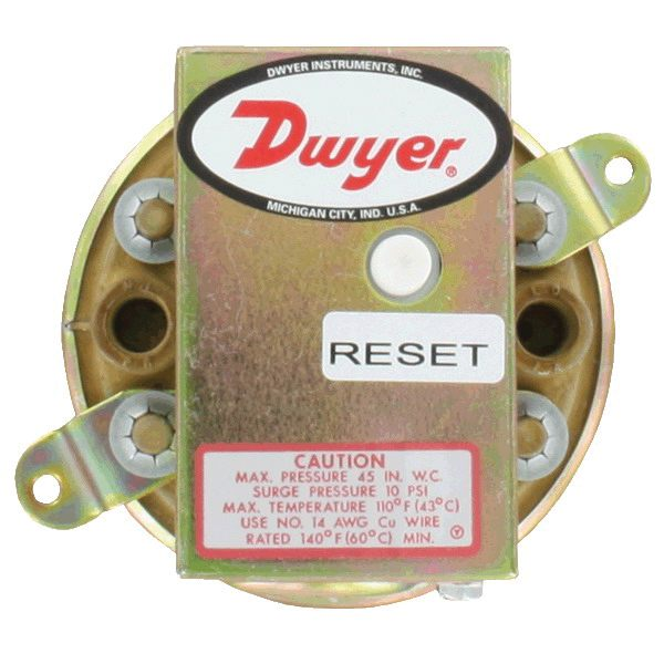Dwyer 1900 Series 1900-10-MR Differential Pressure Switch