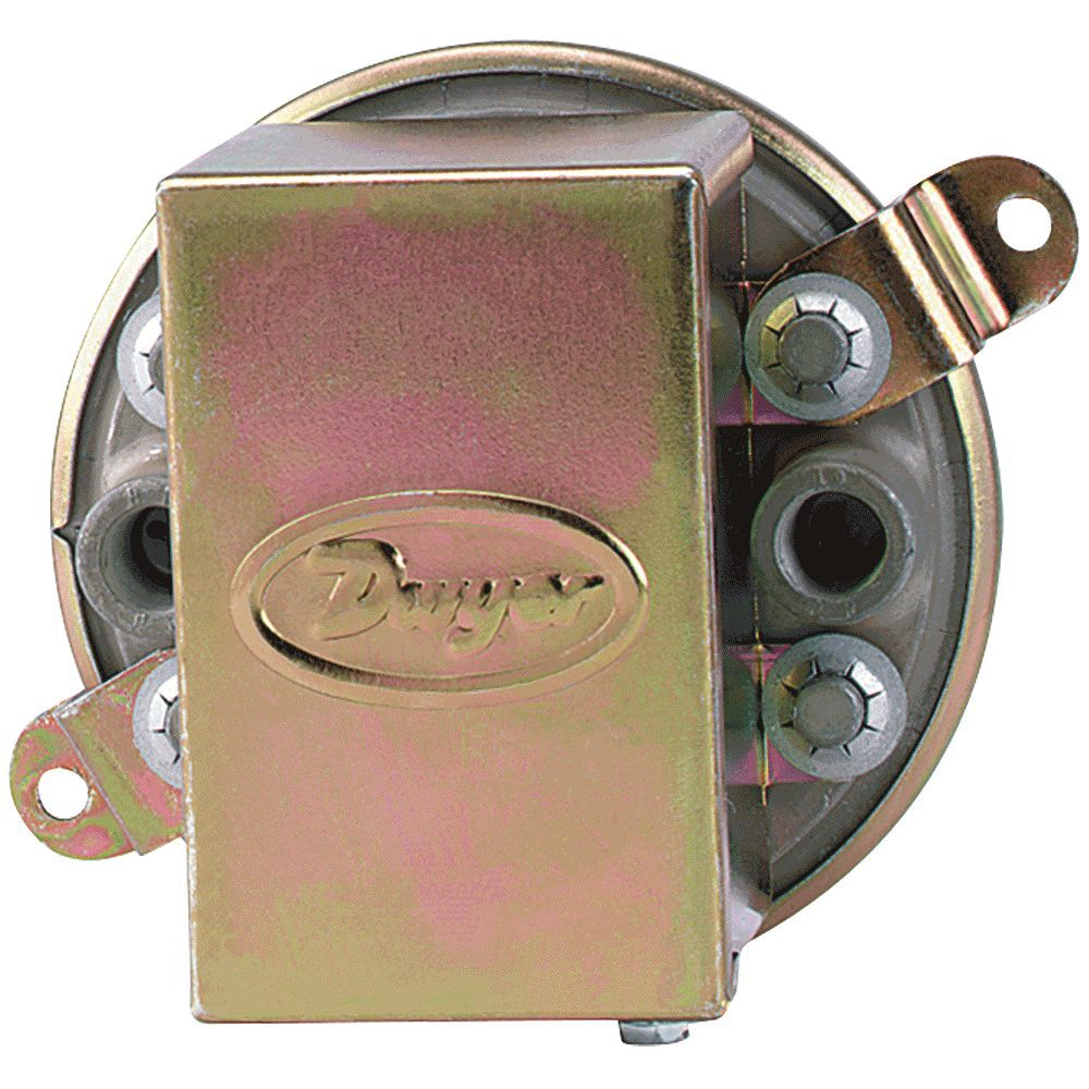 "1910-1 - Dwyer SPDT Compact Low Differential Pressure Switch with Conduit, Range 0.40-1.6"" w.c., 1/8"" FNPT"