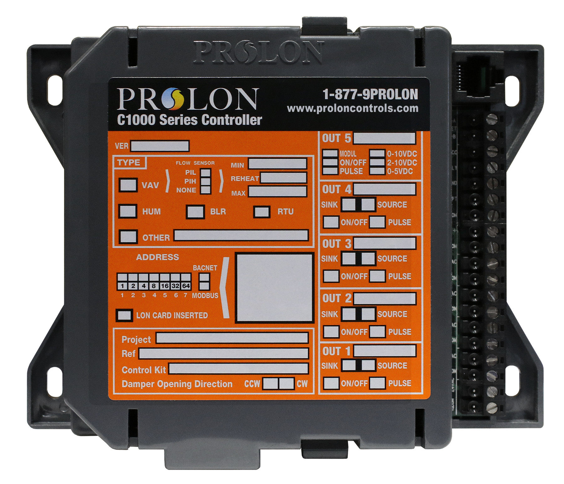 ProLon C1000 HP Series Heat Pump Controllers PL-C1000-HU Humidity Control