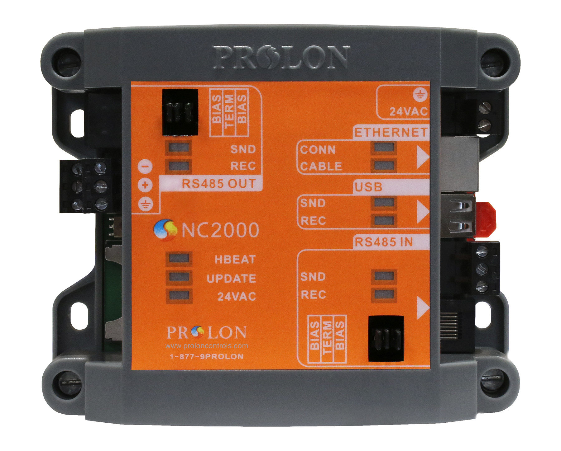Pl Nc2000 Prolon Modbus Tcp Ip To Rs485 Network Controller