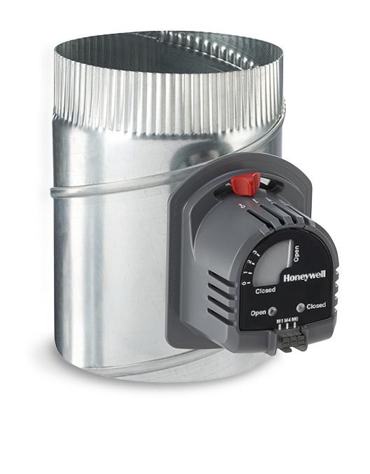 """ARD10TZ - Honeywell TrueZONE 10"""" Round Damper W/ 24V 2 Position Normally Open Actuator"""