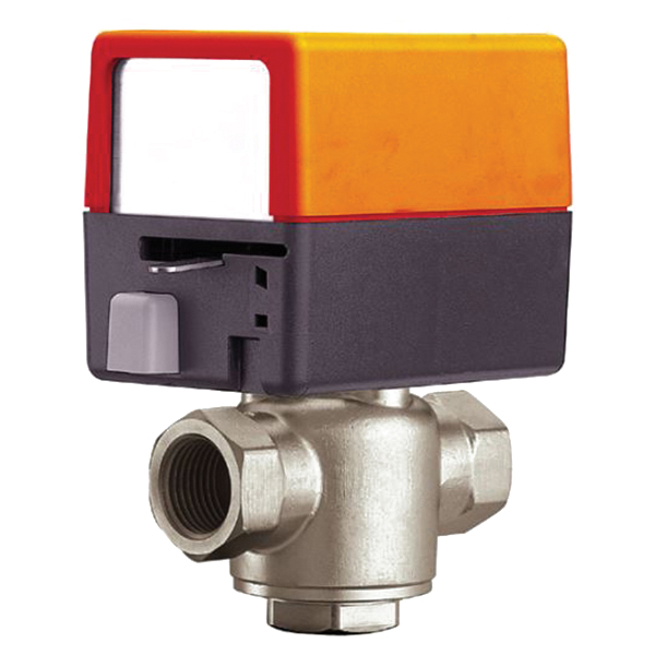 "ZONE325S-80+ZONE24NC - Belimo 3-Way Electronic Zone Valve, 1"" Sweat, 8 Cv, 24V N.C"
