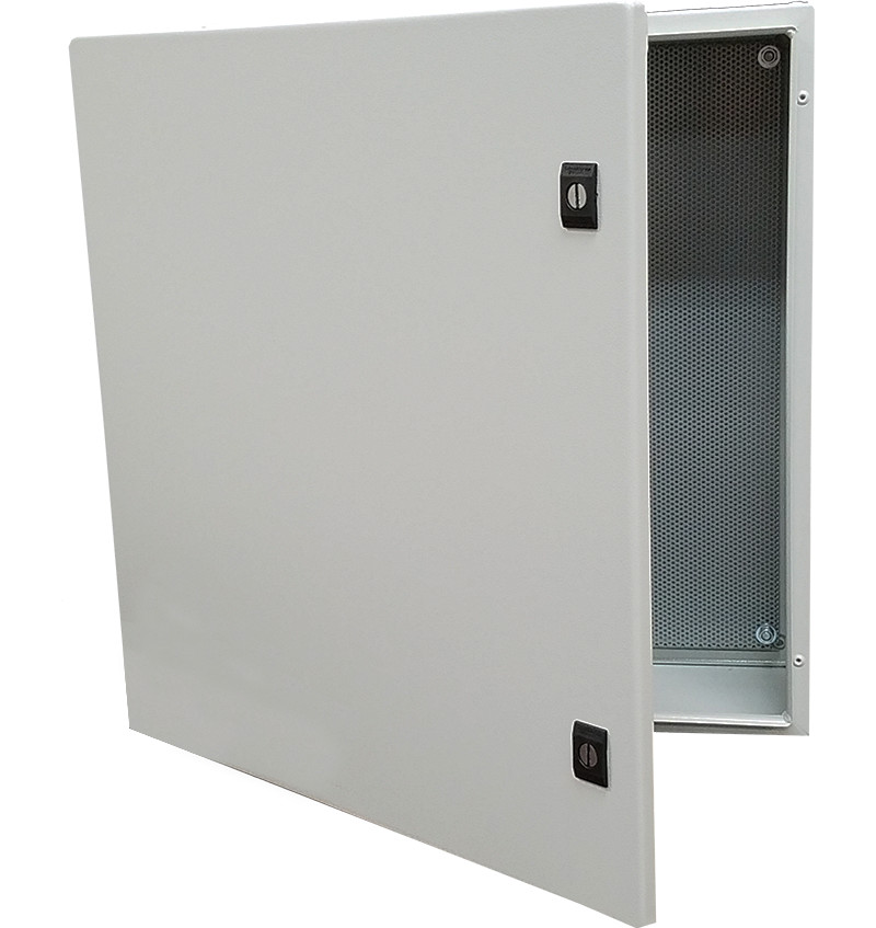 C-ONEBOX242408P - Kele Multi-Rated NEMA 4 Enclosure. 23.6x23.6x7.9 with Perforated Panel (MEDIUM)