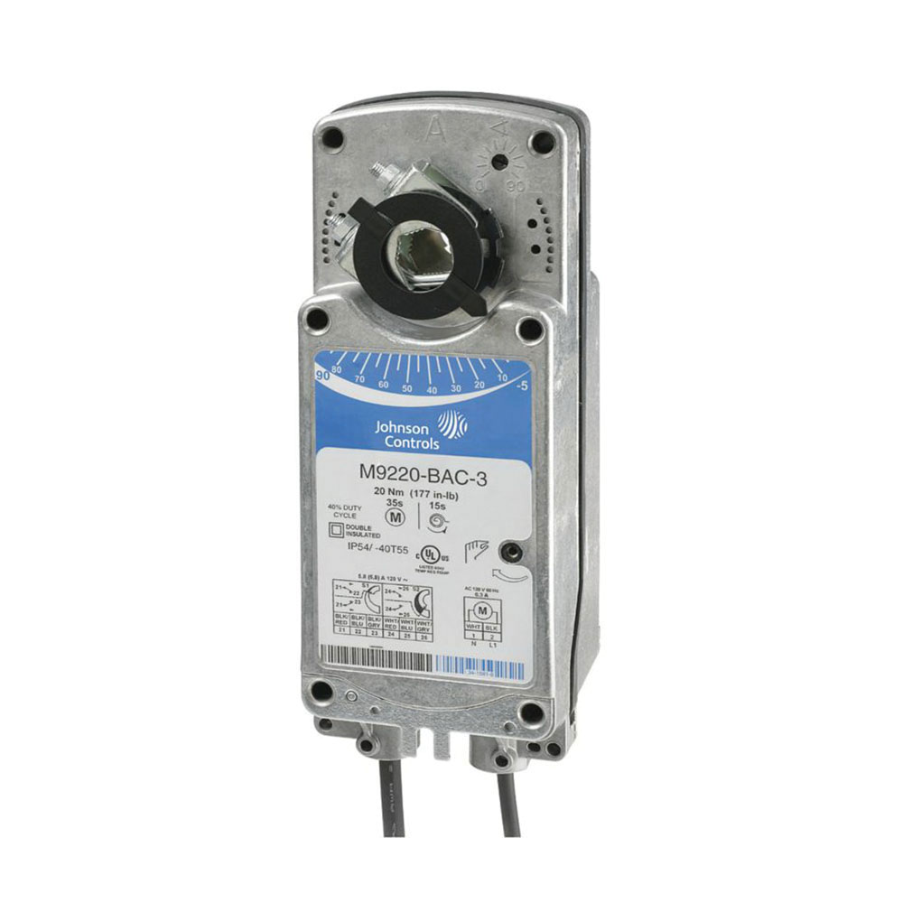 M9220-GGA-3 -Johnson Controls Actuator, 24 V, SR, Prop, 177 in-lbs