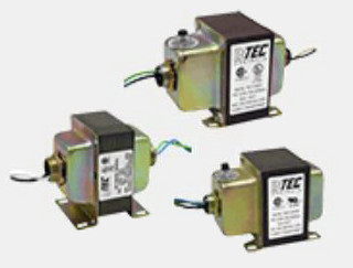 5041MWCB-D - INTEC Controls Control Transformer, Double Hub, 120/240/277/480-24VAC, 50VA, with Circuit Breaker