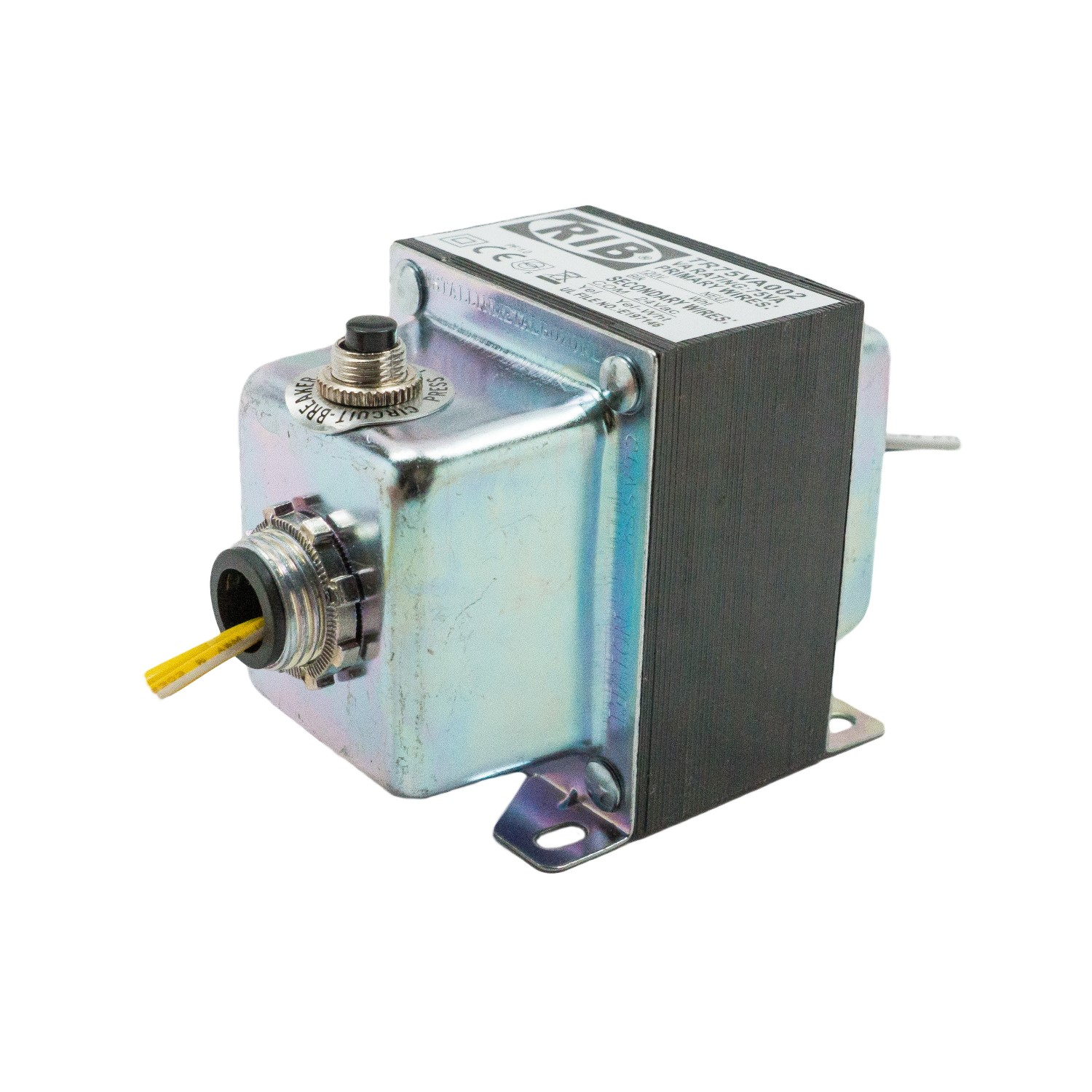 TR75VA002 - Functional Devices 75VA Transformer 120-24V, Circuit Breaker, Foot/Dual Threaded Hub