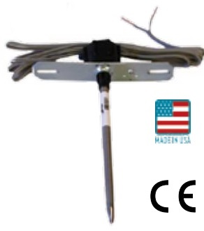 "KTV24-XCP5 - Kele 5"" 10K Type ll Duct Temp Sensor, 5' Plenum Cable"