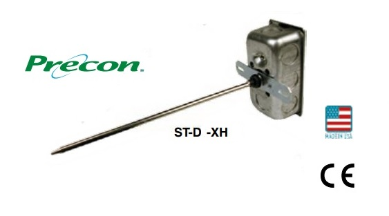 "ST-D24-XH - Kele 9"" 10K Type ll Duct Temp Sensor, Handy Box"