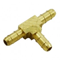 "B-376 - Schneider Electric Barb Tee, Brass, 1/4"" Left x 1/4"" Right x 1/4"" Top"