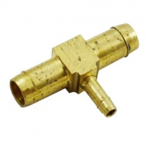 "B-379 - Schneider Electric Barb Tee, Brass, 1/2"" Left x 1/2"" Right x 1/4"" Top"