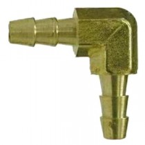 "B-573 - Schneider Electric 90° Elbow, Brass, 1/4"" Barb x 1/4"" Barb"