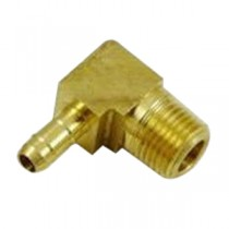 "B-571 - Schneider Electric 90° Elbow, Brass, 1/4"" Barb x 1/8"" MPT"