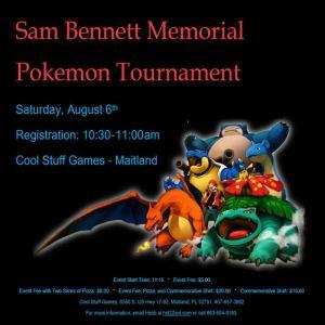 Sam Bennett Memorial Pokemon Tournament @ Maitland | Florida | United States