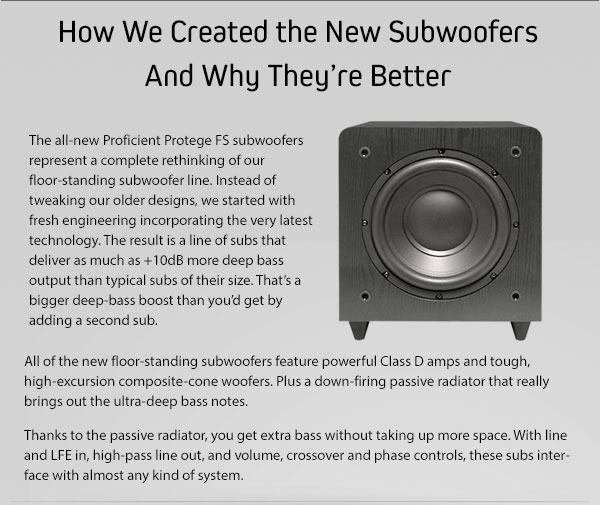 How We Created the New Subwoofers