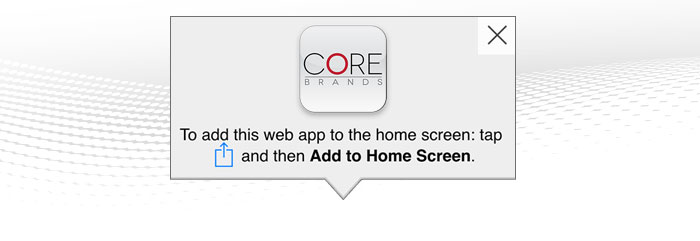 Download the icon below onto your devices and have web access to Pro Audio's portfolio from Core Brands.