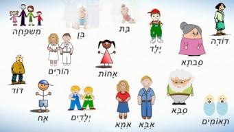 Члены семьи на иврите