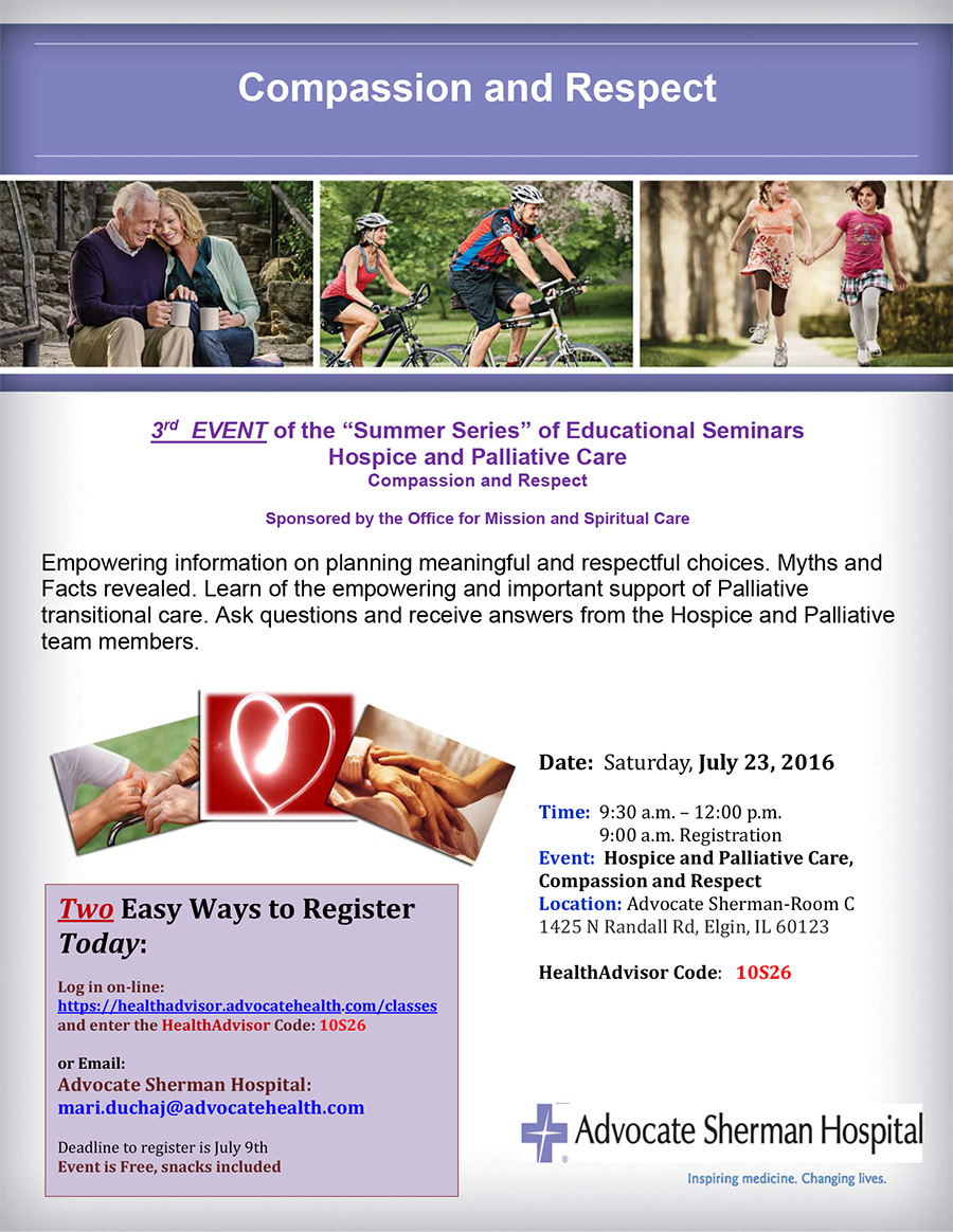 Register today hospice and palliative care july 23 sherman gkwwhv