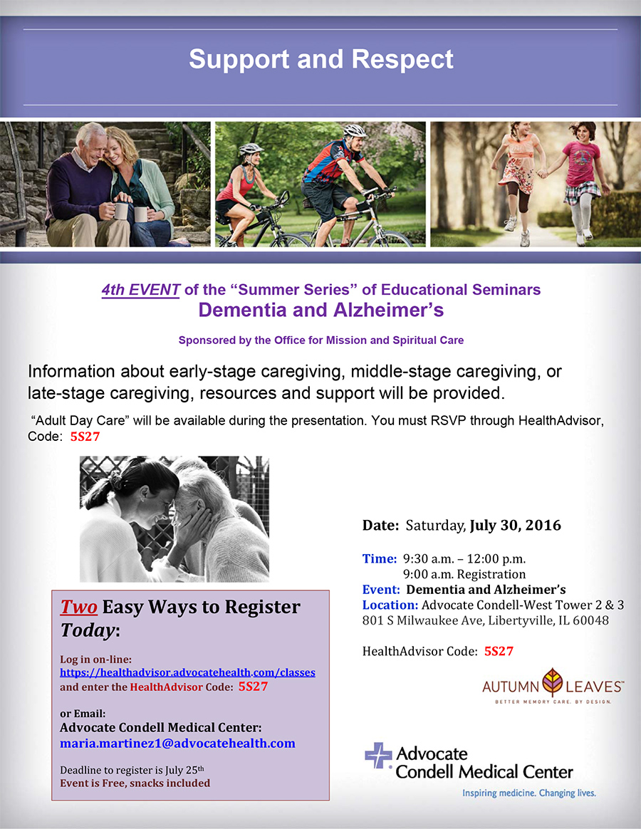 Register today alzheimer and dementia july 30 condell igy4g1