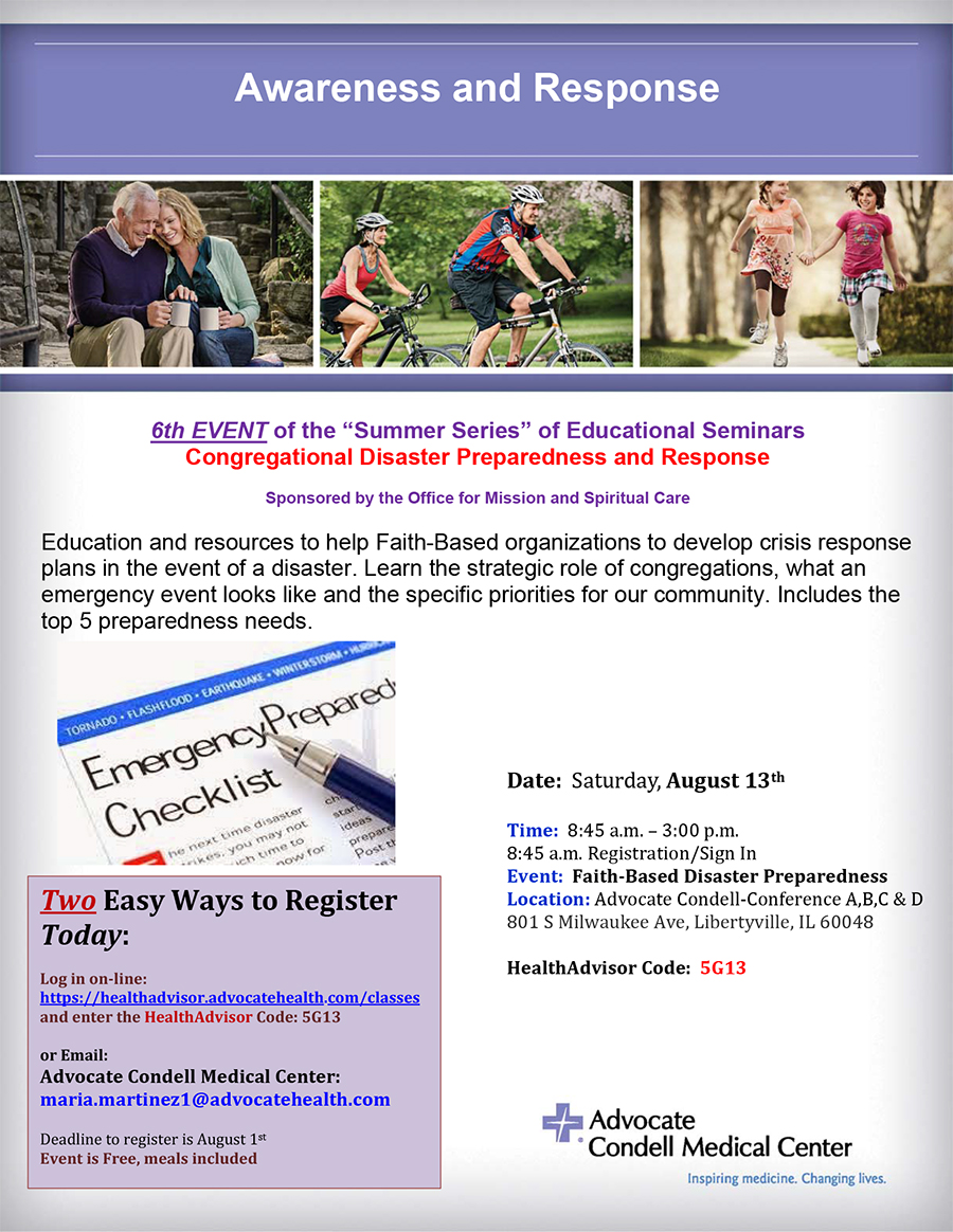 Register today disaster preparedness august 13 condell f4twwa