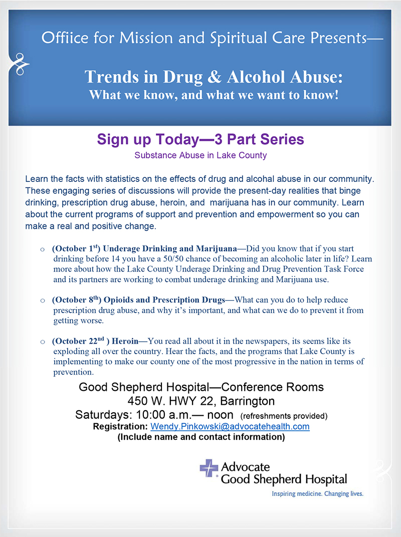 Trends in drug and alcohol abuse 3 part series good shepherd hospital zmw4au