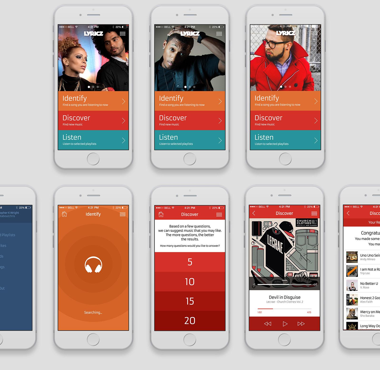 Lyricz Mobile App Concept