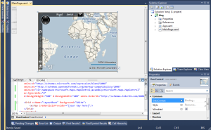 Adding bing maps to silverlight