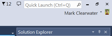 Visual Studio's Quick Launch feature.