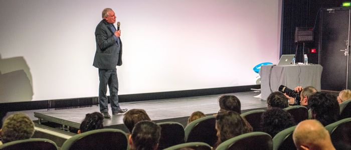 Conférence de Peter Greenaway - festival Zoom Arrière 2015 - © Jean-Jacques Ader