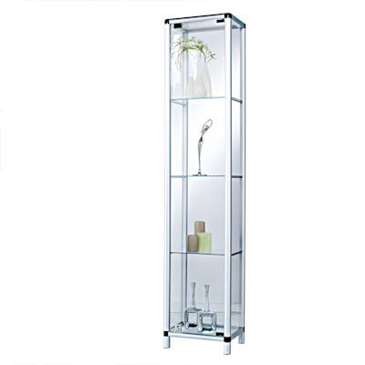 Vitrine Show, Abschließbar, Glas Aluminium, ca. B36 x T32 x H175 cm