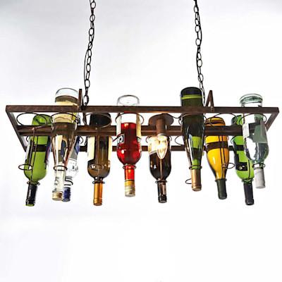 Deckenleuchte Bottle, gestaltbar, Metall
