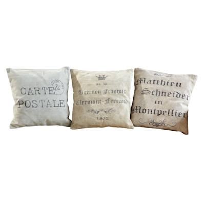 Kissenhüllen-Set, 3-tlg. Vintage, Baumwolle