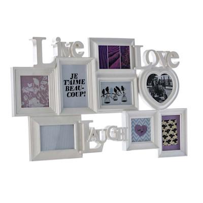 Best of home Bilderrahmen Live Love Laugh 48 cm x 75 cm x 3 cm