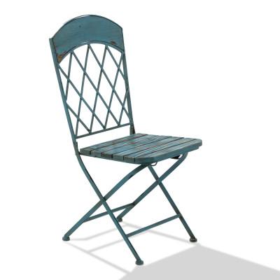 Stuhlset Vintage Blau 2-tlg.