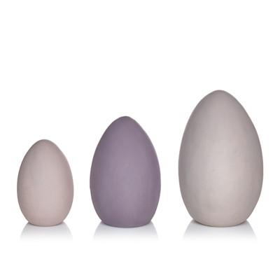 Deko-Eier-Set, 3-tlg., drei Farbtöne