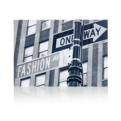 """""""Acrylbild """"""""Fashion Avenue"""""""", 50x70 cm, s/w"""""""