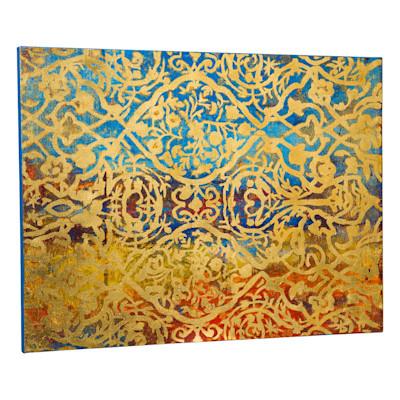 miaVILLA Bild Gold, orientalischer Look, Acryl, Leinwand