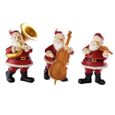 Best of home Dekofiguren-Set Musizierende Santas 3-teilig