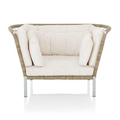 IMPRESSIONEN living Outdoor-Sessel, inkl. Kissen, modern, Kunststoffgeflecht