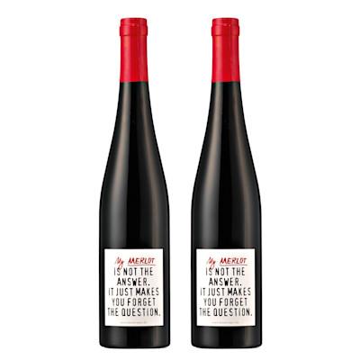 """2013, Rotwein, Merlot """"The Answer"""", 2 Flaschen"""