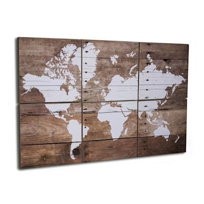 miaVILLA Bilder-Set, 6-tlg. World, Holz