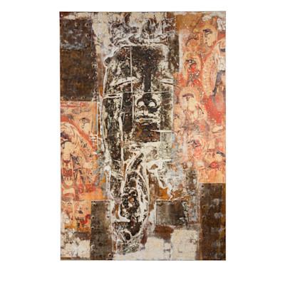 Bild Buddha Art, handgemalt, Acrylfarbe, ca. L 100 x H 150cm