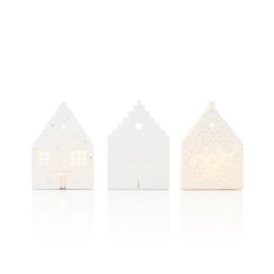 räder Haus-Lichttüten-Set, 3-tlg., unterschiedliche Designs, Papier