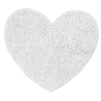 Badteppich Herz, Baumwolle, 80 x 75 cm