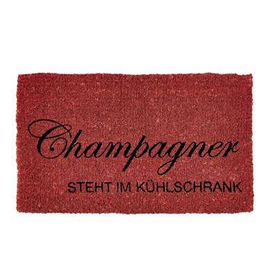 """IMPRESSIONEN living """"Fußmatte, """"""""Champagner steht im Kühlschrank"""""""", Kokos"""""""