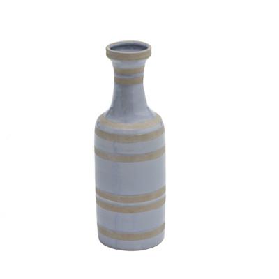 miaVILLA Vase Blue Stripes, Keramik